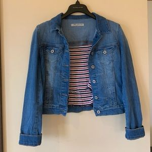 Maui Co Jean Jacket- Garage Striped Tank